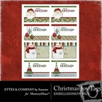 Christmas joy tags small