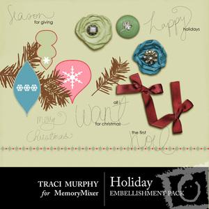 Holiday emb medium