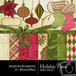Holiday Time Mini Pack-$3.99 (Designs by Krista)