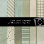Grey Days Paper Pack-$3.49 (Karen Lewis)