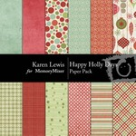 Happy Holly Days Paper Pack-$3.99 (Karen Lewis)