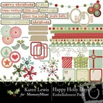 Happy Holly Days Embellishment Pack-$2.99 (Karen Lewis)