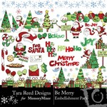 Be Merry Embellishment Pack-$2.99 (Tara Reed Designs)