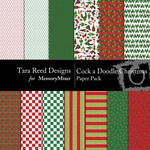 Cock A Doodle Christmas Paper Pack-$3.99 (Tara Reed Designs)