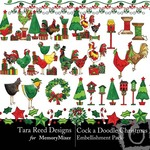 Cock A Doodle Christmas Embellishment Pack-$2.99 (Tara Reed Designs)