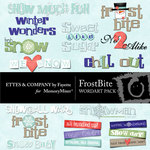 FrostBite WordArt Pack-$0.99 (Ettes and Company by Fayette)