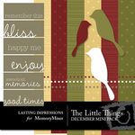 The Little Things December Mini Pack-$3.00 (Lasting Impressions)