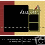 The Little Things December QuickMix-$3.00 (Lasting Impressions)