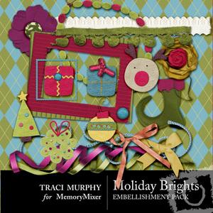 Holiday brights emb medium
