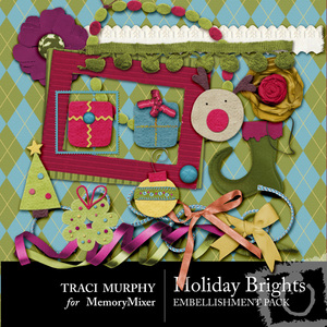 Holiday brights emb medium