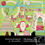 Holiday Joy Embellishment Pack-$2.50 (Designs by Krista)