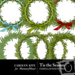 Tis the Season Wreaths Pack-$2.49 (Carolyn Kite)