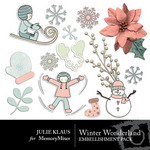 Winter Wonder JK Embellishment Pack 1-$1.99 (Julie Klaus)