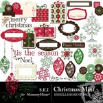 Christmas Mint Embellishment Pack-$2.99 (s.e.i)