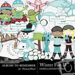 Winter Fun Embellishment Pack 2-$2.99 (Albums to Remember)
