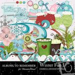 Winter Fun Embellishment Pack 1-$2.99 (Albums to Remember)