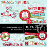 Hip christmas wordart small