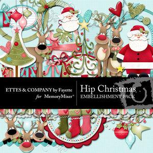 Hip christmas emb medium