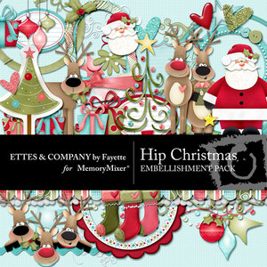 Hip christmas emb medium
