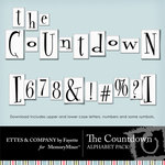The Countdown Alphabet Pack-$0.99 (Ettes and Company by Fayette)