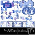 Let It Snow Embellishment Pack-$2.99 (Tara Reed Designs)