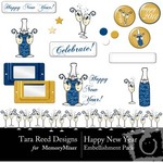 Happy New Year TR Embellishment Pack-$1.25 (Tara Reed Designs)