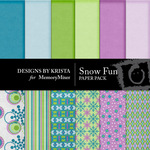 Snow Fun Paper Pack-$3.50 (Designs by Krista)