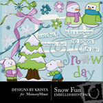 Snow Fun Embellishment Pack-$2.50 (Designs by Krista)