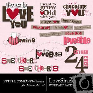 Love shack wordart medium