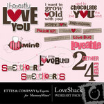 Love Shack WordArt Pack-$1.49 (Ettes and Company by Fayette)