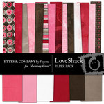 Love Shack Paper Pack-$3.99 (Ettes and Company by Fayette)