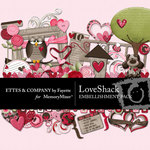 Love Shack Embellishment Pack-$3.50 (Ettes and Company by Fayette)