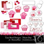 Heart Day Embellishment Pack-$2.99 (Tara Reed Designs)