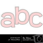 Be Mine JK Alphabet Pack-$0.99 (Julie Klaus)