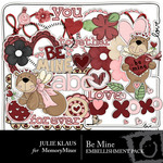 Be Mine JK Embellishment Pack-$2.99 (Julie Klaus)