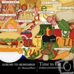Time To Eat Embellishment Pack-$2.99 (Albums to Remember)