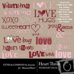 Heart throb wordart small