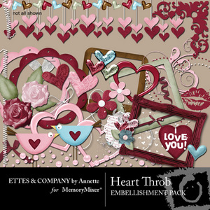 Heart throb emb medium