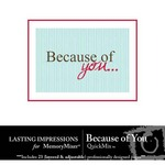 Because of You QuickMix-$3.60 (Lasting Impressions)