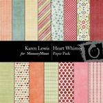Heart Whimsy Paper Pack-$2.99 (Karen Lewis)
