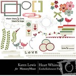 Heart Whimsy Embellishment Pack-$1.49 (Karen Lewis)