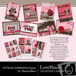 Love Shack Cards and Tag Printables-$2.49 (Ettes and Company by Fayette)