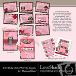 Love Shack Coupon Book and Box Printables-$2.49 (Ettes and Company by Fayette)
