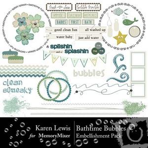Bathtime bubbles emb medium