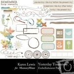 Yesterday Tomorrow Embellishment Pack-$2.99 (Karen Lewis)