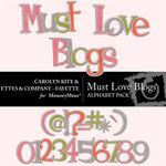 Must Love Blogs Alphabet Pack-$2.49 (Ettes and Company by Fayette)