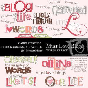 Must love blogs wordart medium