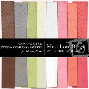 Must love blogs cardstock pp medium