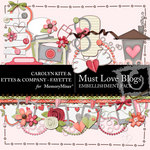 Must Love Blogs Embellishment Pack-$3.49 (Ettes and Company by Fayette)