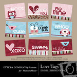 Love Tags Printable-$0.99 (Ettes and Company by Annette)
